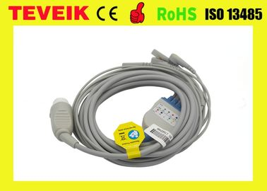 Compatible HP TPU One Piece 5 lead ECG Cable With Snap IEC For M1722A/B